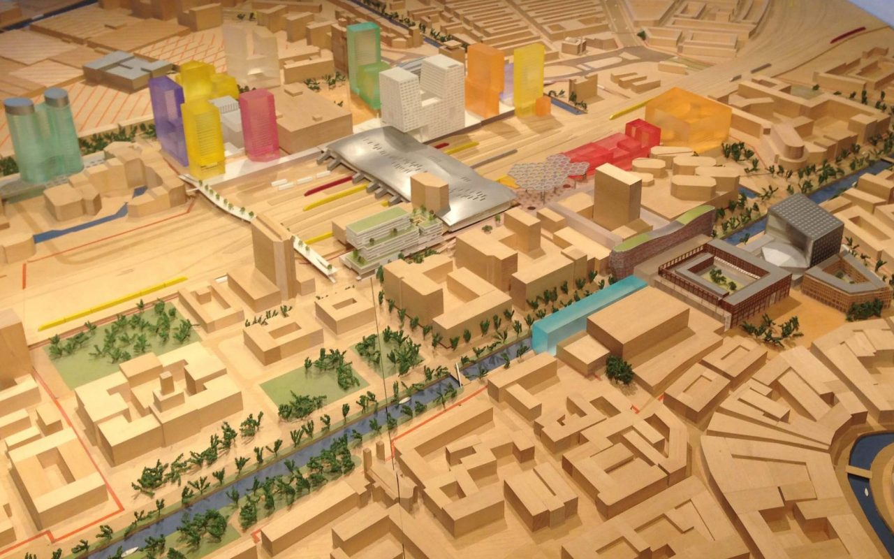 A maquette of new the utrecht station area